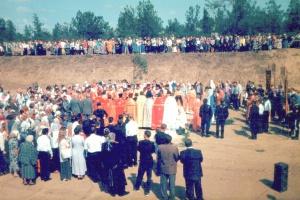 Закладка первого камня в основание Собора.