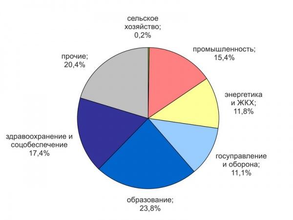 Структура занятости населения города Георгиевска