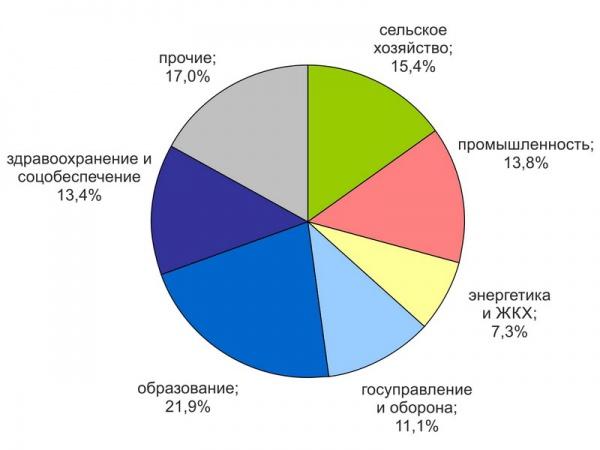 Структура занятости населения Георгиевской епархии