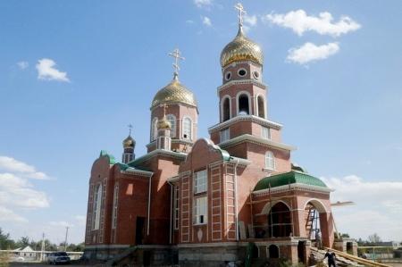 Строящийся храм в с. Солдато-Александровском
